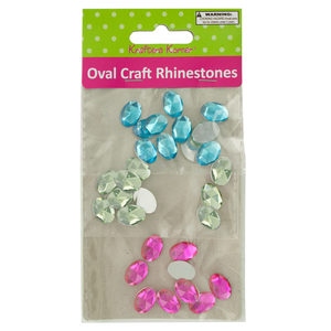 20 Pieces Per Pack Of Faceted Oval Craft Rhinestones ][Wholesales Purchase Hoodmat.Com