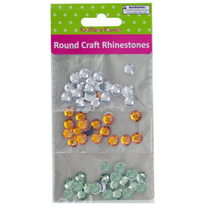 20 Pieces Per Pack Of Faceted Round Craft Rhinestones ][Wholesales Purchase Hoodmat.Com