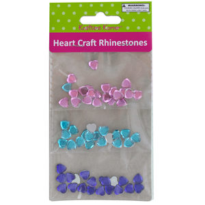 20 Pieces Per Pack Of Faceted Heart Craft Rhinestones ][Wholesales Purchase Hoodmat.Com