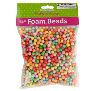 18 Pieces Per Pack Of Large Multi-Colored Foam Craft Beads ][Wholesales Purchase Hoodmat.Com