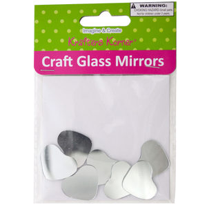 18 Pieces Per Pack Of Mini Heart Shape Craft Glass Mirrors][Wholesales Purchase Hoodmat.Com