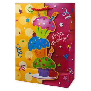 24  Pieces Per Pack Of  Medium Happy Birthday Glitter Giftbag ][wholesales purchase|hoodmat.com