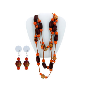 6 Pieces Per Pack Of Faceted Bead Necklace &Amp; Dangle Earrings Set ][Wholesales Purchase|Hoodmat.Com