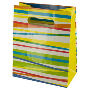 36  Pieces Per Pack Of  Multi-Color Stripes Gift Bag ][wholesales purchase|hoodmat.com