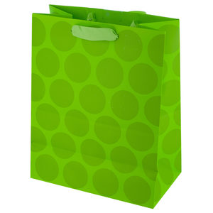 36  Pieces Per Pack Of  Medium Lime Green Dots Gift Bag ][wholesales purchase|hoodmat.com