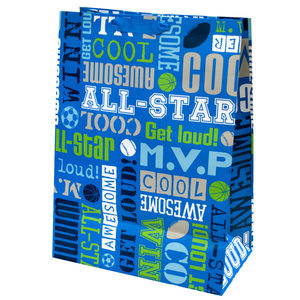 24  Pieces Per Pack Of  Boys Sports Words Mega Gift Bag ][wholesales purchase|hoodmat.com