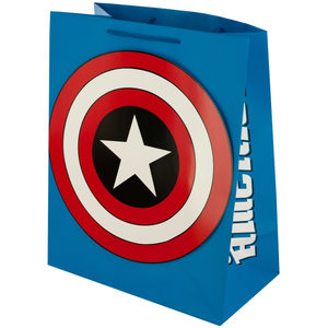 24  Pieces Per Pack Of  Large Captain America Gift Bag ][wholesales purchase|hoodmat.com