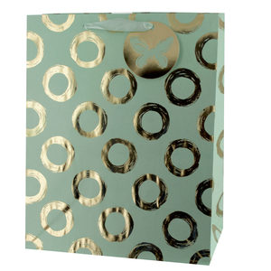 20  Pieces Per Pack Of  Gold Foil Circles Large Gift Bag ][wholesales purchase|hoodmat.com