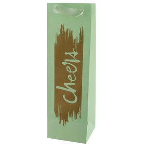 24  Pieces Per Pack Of  Cheers Gold Foil Bottle Gift Bag ][wholesales purchase|hoodmat.com