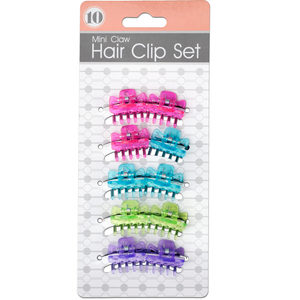 24 Pieces Per Pack Of Mini Claw Hair Clip Set ][Wholesales Purchase|Hoodmat.Com