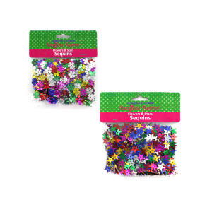 12 Pieces Per Pack Of Flowers &Amp; Stars Sequins][Wholesales Purchase Hoodmat.Com