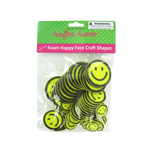 12 Pieces Per Pack Of Peel &Amp; Stick Foam Happy Face Craft Shapes ][Wholesales Purchase Hoodmat.Com