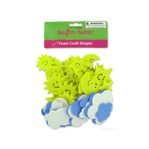 12 Pieces Per Pack Of Sky Foam Craft Shapes ][Wholesales Purchase Hoodmat.Com