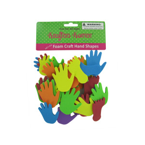 12 Pieces Per Pack Of Foam Hand And Feet Craft Sticker Shapes ][Wholesales Purchase Hoodmat.Com
