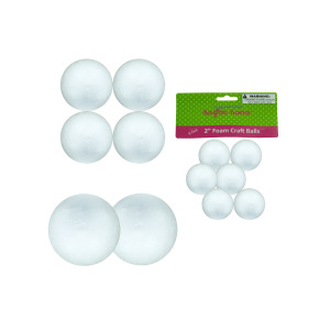 12 Pieces Per Pack Of Large Foam Craft Balls][Wholesales Purchase Hoodmat.Com