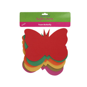 12 Pieces Per Pack Of Foam Butterfly Craft Shapes][Wholesales Purchase Hoodmat.Com