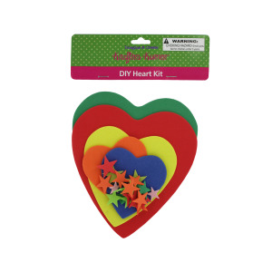 12 Pieces Per Pack Of Do-It-Yourself Foam Heart Craft Kit ][Wholesales Purchase Hoodmat.Com