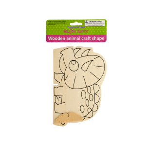12 Pieces Per Pack Of Wooden Animal Craft Shape][Wholesales Purchase Hoodmat.Com