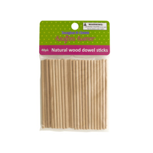 12 Pieces Per Pack Of Natural Wood Dowel Sticks][Wholesales Purchase Hoodmat.Com
