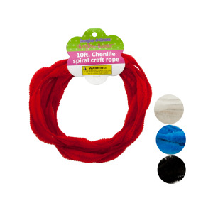 12 Pieces Per Pack Of Chenille Spiral Craft Rope][Wholesales Purchase Hoodmat.Com