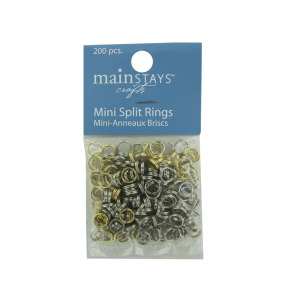 12 Pieces Per Pack Of Mini Split Rings Assortment ][Wholesales Purchase Hoodmat.Com