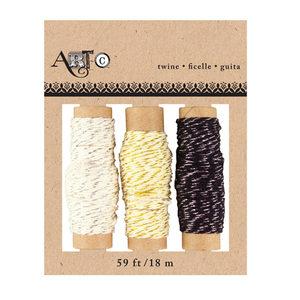 24 Pieces Per Pack Of Artc Embellishment Metallic Twine Pack Of 3][Wholesales Purchase Hoodmat.Com