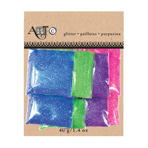 20 Pieces Per Pack Of Artc Metallic Craft Colorful Glitter Pack Of 8 ][Wholesales Purchase Hoodmat.Com