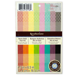 12 Pieces Per Pack Of Recollection Basic Bold 4.5 X 6.5 Craft Paper Pad][Wholesales Purchase Hoodmat.Com