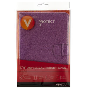 12 Pieces Per Pack Of Vivitar Assorted Purple &Amp; Blue Glitter Universal Tablet Case ][Wholesales Purchase|Hoodmat.Com