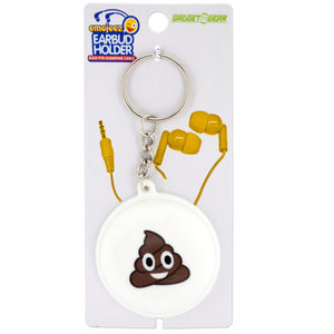 24 Pieces Per Pack Of Emoticon Earbud &Amp; Cable Holder Key Chain ][Wholesales Purchase|Hoodmat.Com