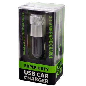 12 Pieces Per Pack Of Super Duty Aluminum Dual Usb Car Charger ][Wholesales Purchase|Hoodmat.Com