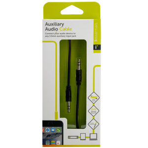 24 Pieces Per Pack Of Iessentials Black Auxiliary Audio Cable ][Wholesales Purchase Hoodmat.Com