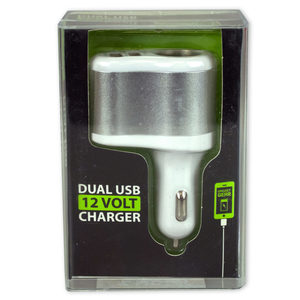 6 Pieces Per Pack Of Dual Usb 12 Volt Charger ][Wholesales Purchase Hoodmat.Com
