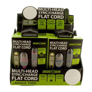6 Pieces Per Pack Of Gadget Gear Multi-Head Flat Cord In Countertop Display ][Wholesales Purchase Hoodmat.Com
