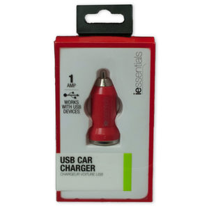 12 Pieces Per Pack Of Iessentials Red Usb Car Charger ][Wholesales Purchase|Hoodmat.Com