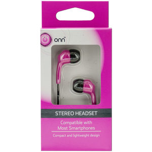 12 Pieces Per Pack Of Pink Stereo Headset Earbuds ][Wholesales Purchase|Hoodmat.Com