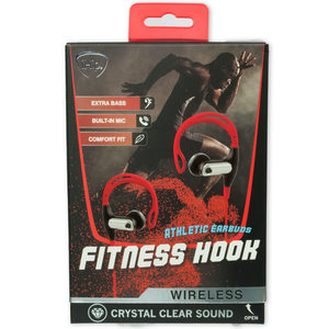 2 Pieces Per Pack Of Ihip Red Fitness Hook Wireless Bluetooth Earbuds ][Wholesales Purchase|Hoodmat.Com