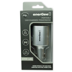 4 Pieces Per Pack Of Ihip Grey Portable Car Charger And Powerbank ][Wholesales Purchase Hoodmat.Com