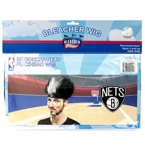 12  Pieces Per Pack Of  Brooklyn Nets Fuzzy Head Wig ][Wholesales Purchase Hoodmat.Com