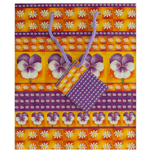 36  Pieces Per Pack Of  Medium Purple Floral Gift Bag ][wholesales purchase|hoodmat.com