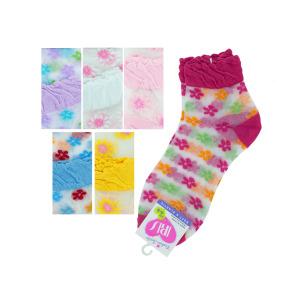 36 Pieces Per Pack Of Mid Cut Flowers Socks ][wholesales purchase|hoodmat.com