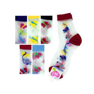 36 Pieces Per Pack Of High Cut Butterfly Socks ][wholesales purchase|hoodmat.com