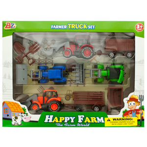2 Pieces Per Pack Of Farm Tractor Truck &Amp; Trailer Set ][Wholesales Purchase   Hoodmat.Com