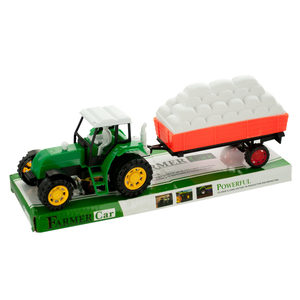 6 Pieces Per Pack Of Friction Farm Tractor Truck &Amp; Trailer Set ][Wholesales Purchase   Hoodmat.Com