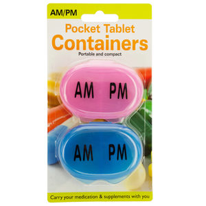 24 Pieces Per Pack Of Am/Pm Pocket Tablet Containers Set ][Wholesales Purchase|Hoodmat.Com