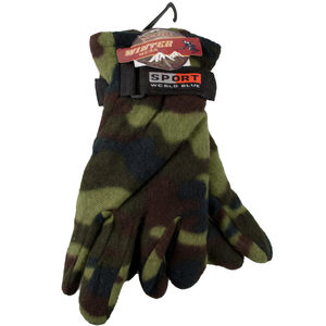 12 Pieces Per Pack Of Camouflage Fleece Gloves ][wholesales purchase|hoodmat.com