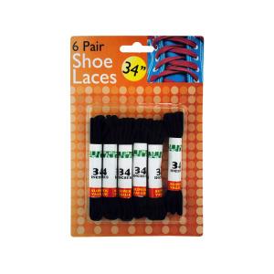24 Pieces Per Pack Of Black Shoe Laces ][wholesales purchase|hoodmat.com