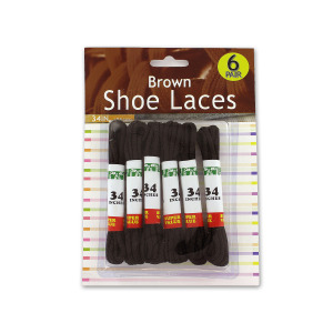 12 Pieces Per Pack Of Brown Shoe Laces ][wholesales purchase|hoodmat.com