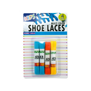 12 Pieces Per Pack Of Kids Colored Shoelaces ][wholesales purchase|hoodmat.com
