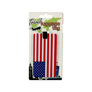 24  Pieces Per Pack Of  3 American Flag Luggage Tag  ][Wholesales Purchase|Hoodmat.Com